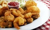 $10 for Seafood and More at The River Shack Restaurant and Oyster Bar