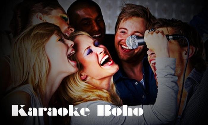 Karaoke Boho - Multiple Locations: $20 for One Hour of Karaoke for Five People in a Private Room at Karaoke Boho ($50 Value)
