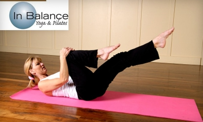 In Balance Yoga & Pilates - Sanford: $25 for One Month of Unlimited Yoga and Pilates Classes, Plus One Barre Class at In Balance Yoga & Pilates in Lake Mary ($150 Value)