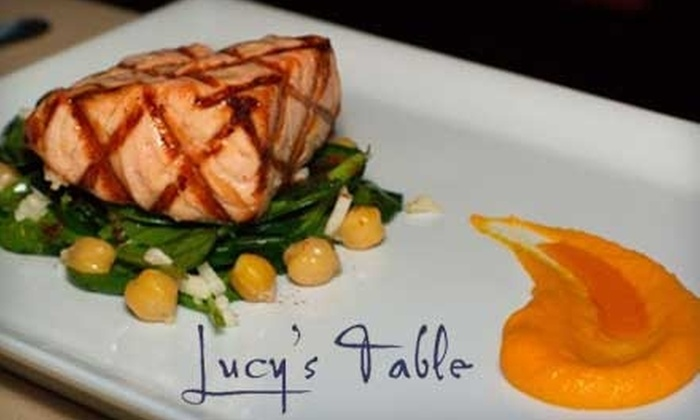 Lucy's Table - Northwest District: $20 for $40 Worth of Dinner at Lucy's Table (Or $7 for $15 Worth of Lunch or Wine Bar Fare)