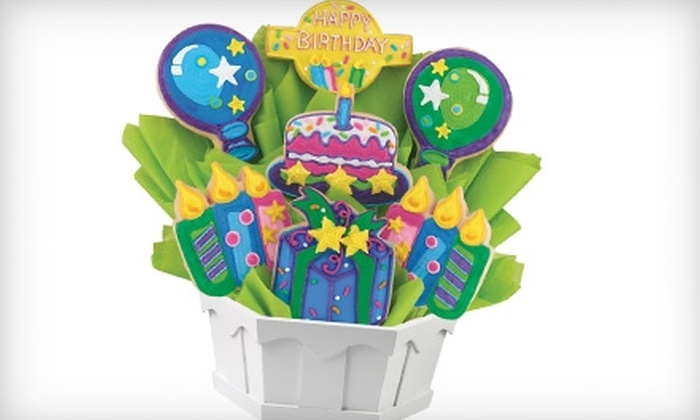 Cookies By Design - Spring Valley: $26 for any Six-Cookie Bouquet at Cookies by Design ($53.06 Value)