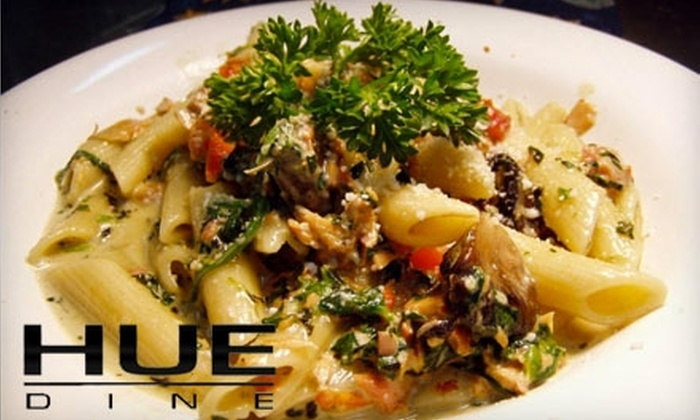 Hue Dine - Downtown Indianapolis: $15 for $35 Worth of Fusion Dinner Cuisine at Hue Dine (or $10 for $20 Worth of Lunch Fare at Loft 36)