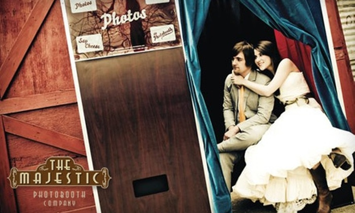 The Majestic Photobooth Co. - Peachtree Hills: $647 for a Four-Hour Photo-Booth Rental Package from The Majestic Photobooth Co. ($1,295 Value)