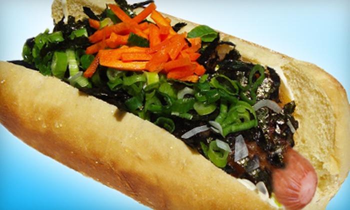 Gourmet Dog Japōn - Pike Place  Market: Japanese Hot-Dog Slider Meal for Two or Hot-Dog Meal with Drinks for Two or Four at Gourmet Dog Japōn (Up to 54% Off)