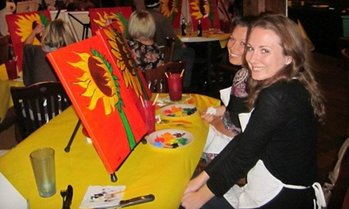 Heart to Art - Edmond: Three-Hour Painting Class for One or Two from Heart to Art (51% Off)