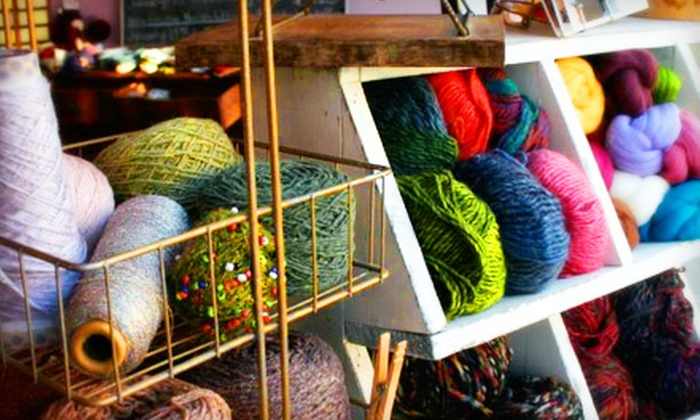 Sifu Design Studio & Fine Yarns - Ravenswood: $65 for BYOB Beginners' Knitting, Crochet, Sock-Knitting, or Embroidery Course (Up to $135 Value)