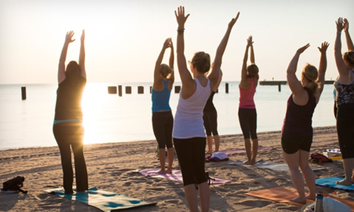 Sun and Moon Beach Yoga - North Ave Beach: 20 Beach-Yoga Classes or a Season Pass for Unlimited Classes and Workshops at Sun and Moon Beach Yoga (Up to 80% Off)