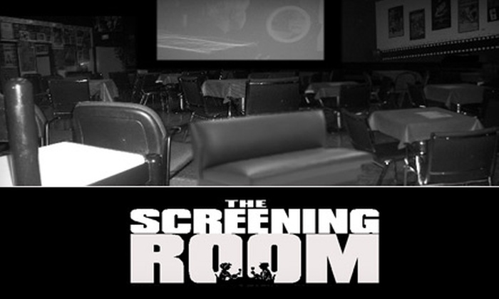 The Screening Room Cinema Café - Eggertsville: $10 for Two Movie Tickets, Two Drinks, and Popcorn at The Screening Room Cinema Café