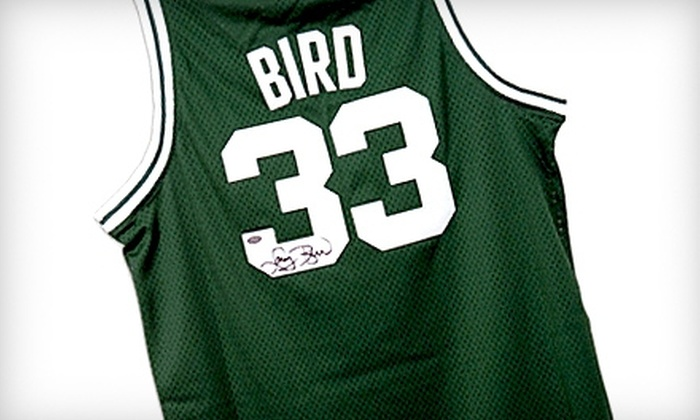 Powers Collectibles: $239 for One Authentic Boston Celtics Jersey Autographed by Larry Bird, Including Shipping, from Powers Collectibles ($488.95 Value)
