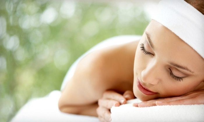 On the Side Day Spa - Westfield: $55 for a Mojito Hot Towel Massage ($110 Value) or $32 for a Paradise Pedicure ($65 Value) at On the Side Day Spa in Westfield