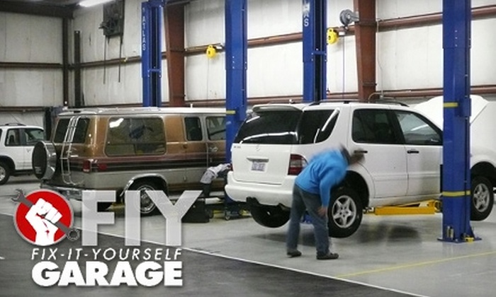 FIY: Fix It Yourself Garage - Druid Hills South: $20 for Two Hours of Car Lift and Tool Rental at FIY: Fix It Yourself Garage ($40 Value)