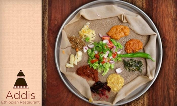 Addis Ethiopian Restaurant - Shockoe Bottom: $12 for $25 Worth of Ethiopian Fare at Addis Ethiopian Restaurant