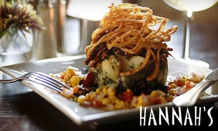 Hannah's Off the Square - Denton: $15 for $30 Worth of Gourmet Cuisine at Hannah's Off the Square in Denton