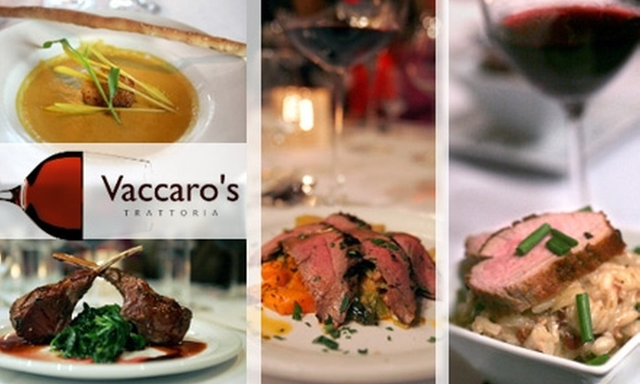 Vaccaro's Trattoria - Bath: $18 for $40 Worth of Authentic Italian Fare and Drinks at Vaccaro's Trattoria