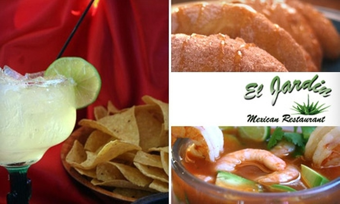 El Jardin Restaurant - Commerce City: $12 for $25 Worth of Mexican Cuisine and Drinks at El Jardin Restaurant in Commerce City
