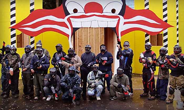 Paintball Explosion - East Dundee: $30 for Paintball Package with Admissions, Equipment, and Paintballs for Two at Paintball Explosion in Santa's Village ($91 Value)