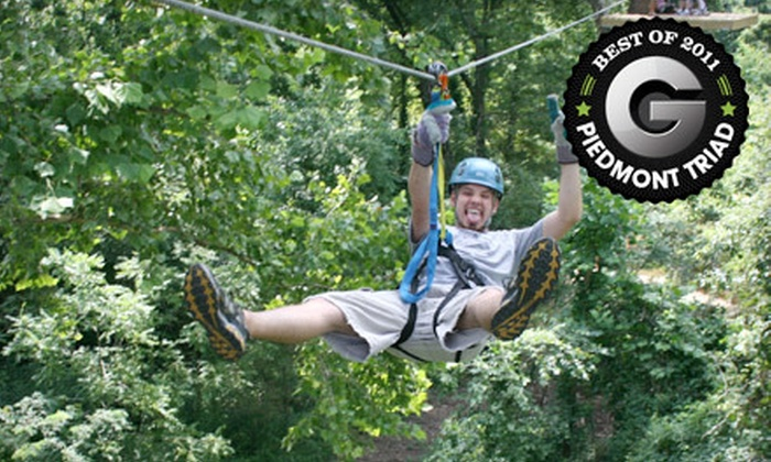 Carolina Ziplines Canopy Tour - Quaker Gap: $40 for a Two-Hour High-Course Zipline Tour from Carolina Ziplines Canopy Tour in Westfield ($80 Value)