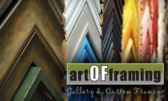 Art of Framing - Normal Heights: $44 for Custom Framing and Services at Art of Framing ($100 Value)