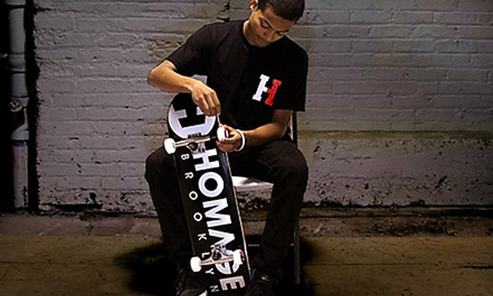 Homage - Boerum Hill: Skate and Snowboard Gear, Tune-Ups, and Lessons at Homage in Brooklyn (Up to 60% Off). Three Options Available.