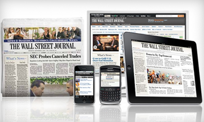 """The Wall Street Journal"" - Berlin: $49 for 20 Weeks of ""The Wall Street Journal"" Print and Digital Editions ($127 Value)"