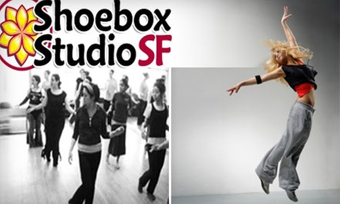 ShoeBox Studio - SoMa: $15 for Three Dance Classes at ShoeBox Studio ($45 Value)
