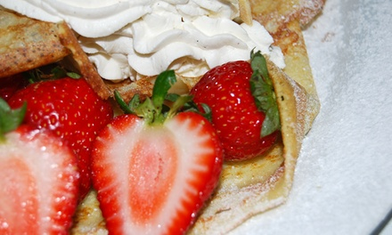 $12 for $20 Worth of Crepes, Frozen Yogurt, and Café Food at La Crepe Fraiche