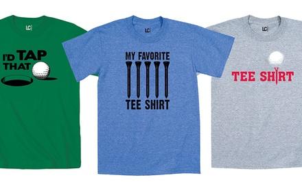 Men 39 s golf t shirts groupon goods for Name brand golf shirts