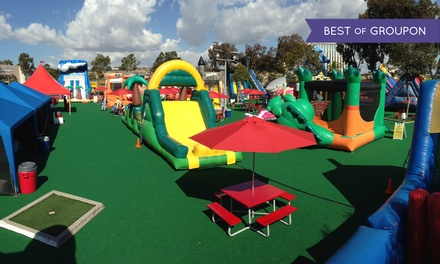 Admission for Two Kids with Option for Admission for One Adult at Inflatable World (Up to 37% Off)