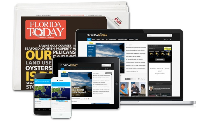 FLORIDA TODAY: 26- or 52-Week Full Access Subscription with Sunday Delivery from FLORIDA TODAY (Up to 71% Off)