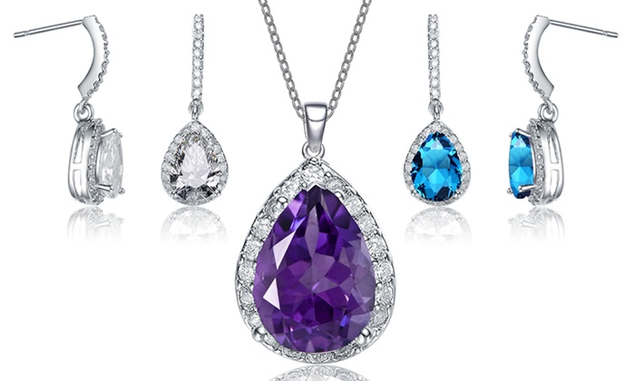 CZ Teardrop Earrings or Necklace: Cubic Zirconia Teardrop Earrings or Necklace. Multiples Styles Available from $19.99–$21.99. Free Returns.