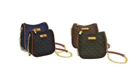 Adrienne Vittadini Quilted Nylon Crossbody Bag
