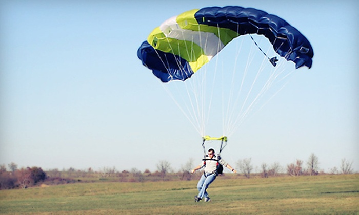 Jumping for Fun Skydiving - Lebanon: $75 for a Static-Line Skydiving Jump from Jumping for Fun Skydiving in Lebanon ($150 Value)