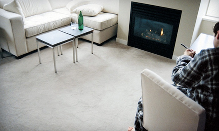 Big Blue Carpet Cleaning - Lexington: $49 for Carpet Cleaning for Three Areas from Big Blue Carpet Cleaning ($150 Value)