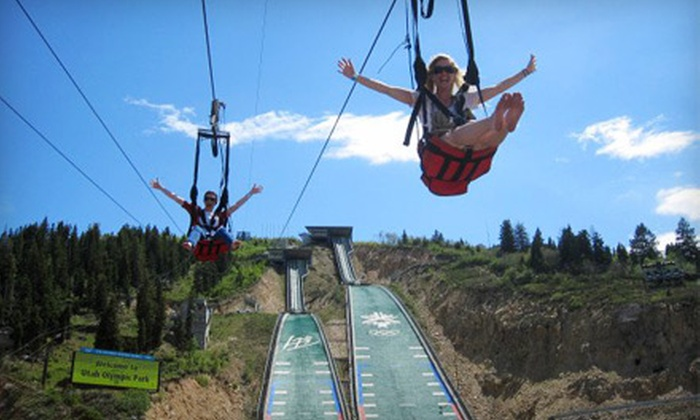 Utah Olympic Park - Snyderville: $19 for Unlimited Zipline and Alpine Slide Rides at Utah Olympic Park ($39 Value)