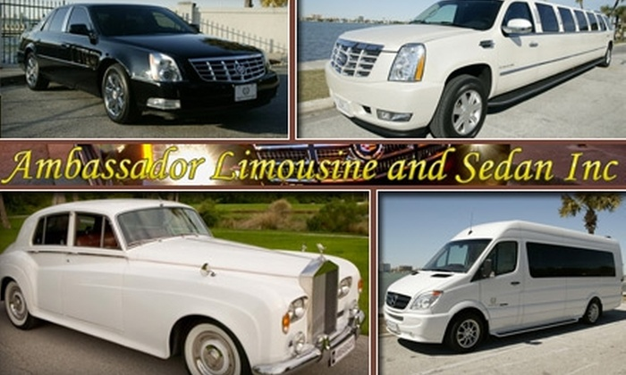 Ambassador Limousine and Sedan Inc. - Tampa Bay Area: $60 for $120 Worth of Luxury Transportation Services with Ambassador Limousine and Sedan Inc.