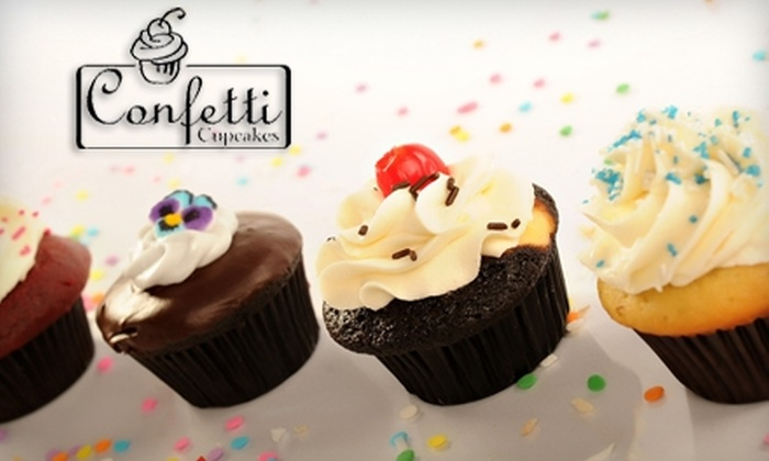Confetti Cupcakes - Olde Town: $16 for One Dozen Cupcakes at Confetti Cupcakes in Issaquah ($33 Value)