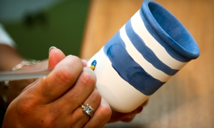 Your Plate or Mine - Fruitport: $10 for $20 Worth of Pottery Painting or Glass Fusing at Your Plate or Mine in Muskegon