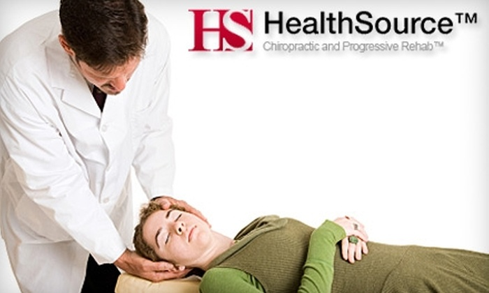 HealthSource Chiropractic & Progressive Rehab - Multiple Locations: $35 for a One-Hour Therapeutic Massage and Chiropractic Consultation at HealthSource Chiropractic & Progressive Rehab ($70 Value)
