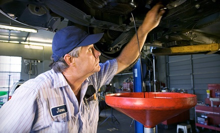 Oil Change and 100-Point Inspection (a $29.95 value)  - DJ's Auto Care in Sherwood