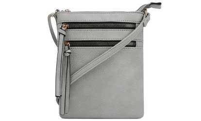 887796b93d83 Shop Groupon MKII Nina Multi-Zip Crossbody Bag
