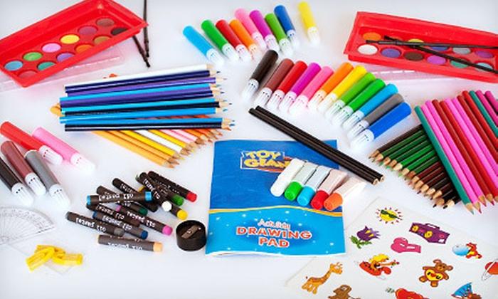 Children's 240-Piece Art Set: $15 for a 240-Piece Active Imagination Monster Art Set ($39.99 Value)