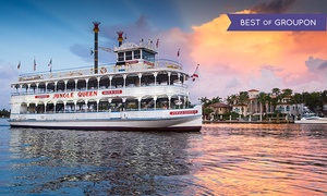 Jungle Queen Riverboat: Sightseeing or Dinner Show Cruise for Two or Four from Jungle Queen Riverboat (Up to 51% Off)