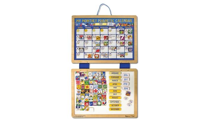 Kids Magnetic Calendars Groupon Goods