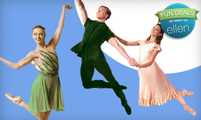 "One Ticket to Pittsburgh Ballet Theatre's ""Peter Pan"" at the Benedum Center on October 29. Six Options Available."
