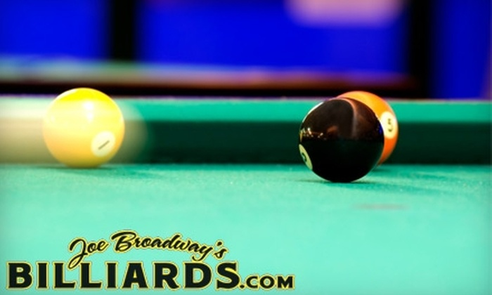 Joe Broadway's Billards - Graniteville: $8 for a One-Hour Pool Table Reservation for up to Four People at Joe Broadway's Billiards in Staten Island (Up to $19 Value)