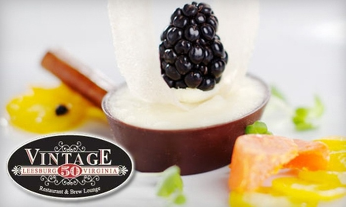 Vintage 50 - Leesburg: $20 for $40 Worth of New American Cuisine and Drinks at Vintage 50 in Leesburg