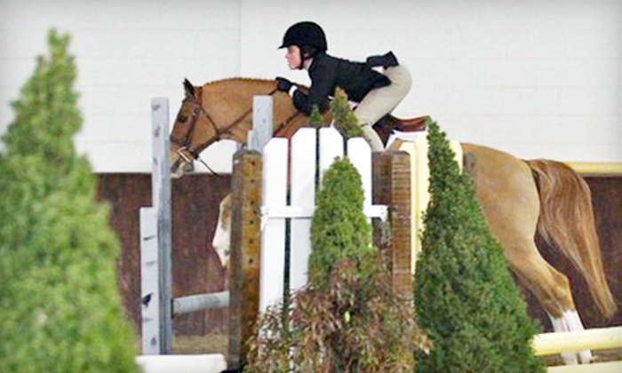 Larkspur Farm - Wilton: $32 for an Advanced Group or Beginning Private Horseback-Riding Lesson at Larkspur Farm in Wilton ($65 Value)