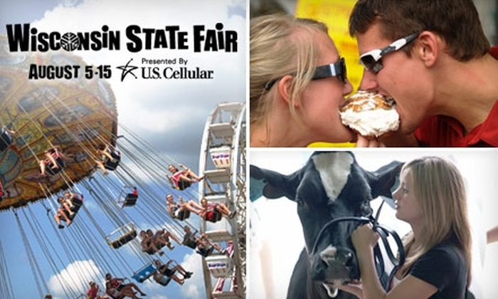 Wisconsin State Fair - Fair Park: $14 for Two Adult Admissions Plus a Three-Pack of Cream Puffs at the Wisconsin State Fair in West Allis ($28.50 Value)
