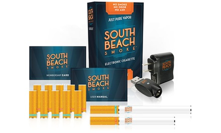 Deluxe Electronic Cigarette Kit with Menthol or Tobacco Cartidges from South Beach Smoke Shop