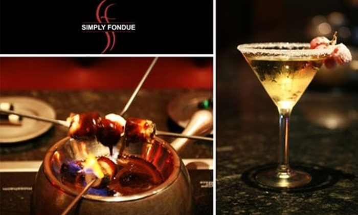 Simply Fondue Dallas - Lower Greenville: $25 for $50 Worth of Dippables, Entrees, and Drinks at Simply Fondue